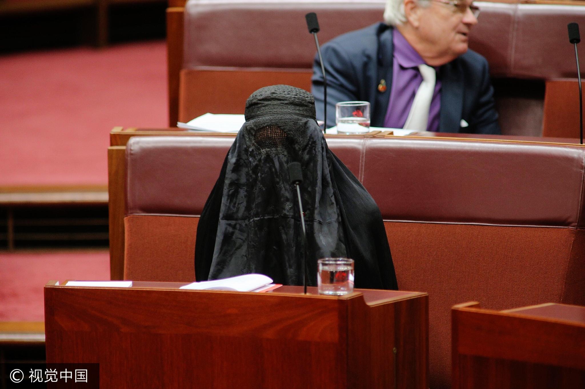 澳大利亚右翼女党魁穿成这样去议会 震惊众人(图)