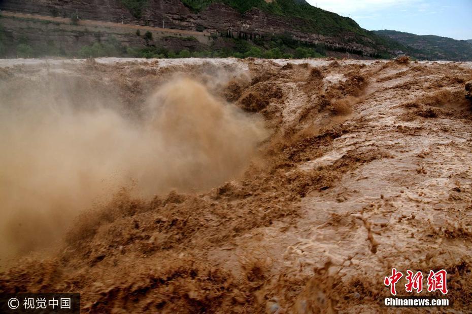 黄河壶口瀑布水量大涨 奔流滚滚气势磅礴 - 周公乐 - xinhua8848 的博客