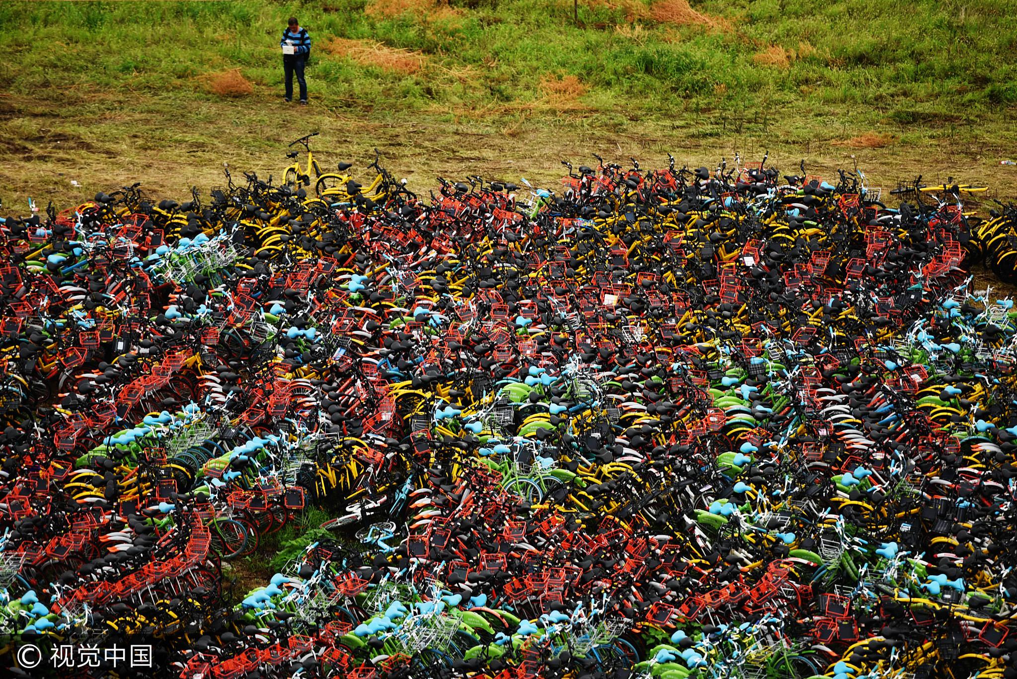 杭州现单车坟场 各色车密密麻麻场面壮观 - 周公乐 - xinhua8848 的博客