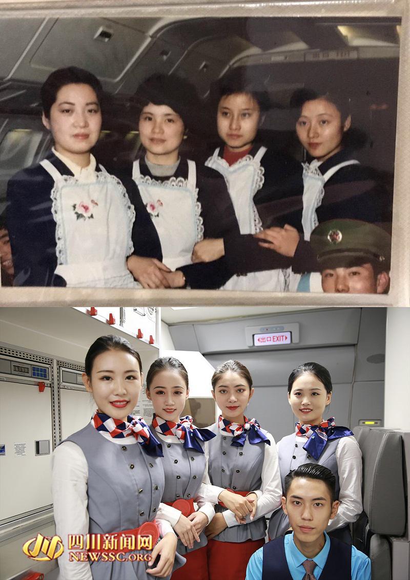 """""""95后""""准空姐与""""70年代""""空姐拼图走红 - 周公乐 - xinhua8848 的博客"""