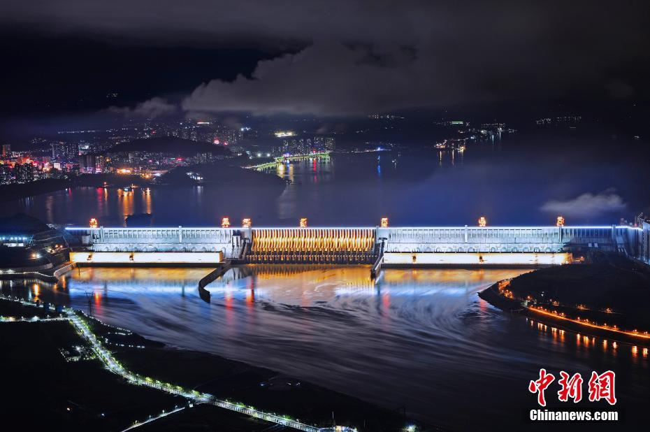 Three Gorges Dam Photo at Night