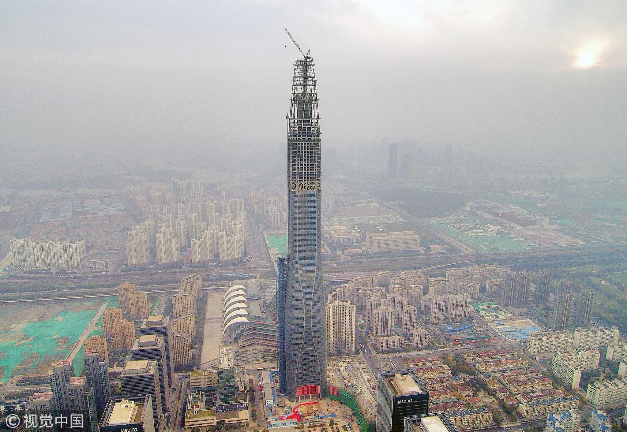 北方在建第一高楼加冕530米:两天一层楼! - 周公乐 - xinhua8848 的博客