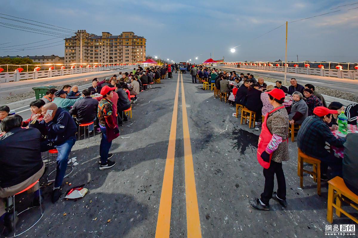 新桥建成 村民摆酒席140桌游桥祈福 - 周公乐 - xinhua8848 的博客