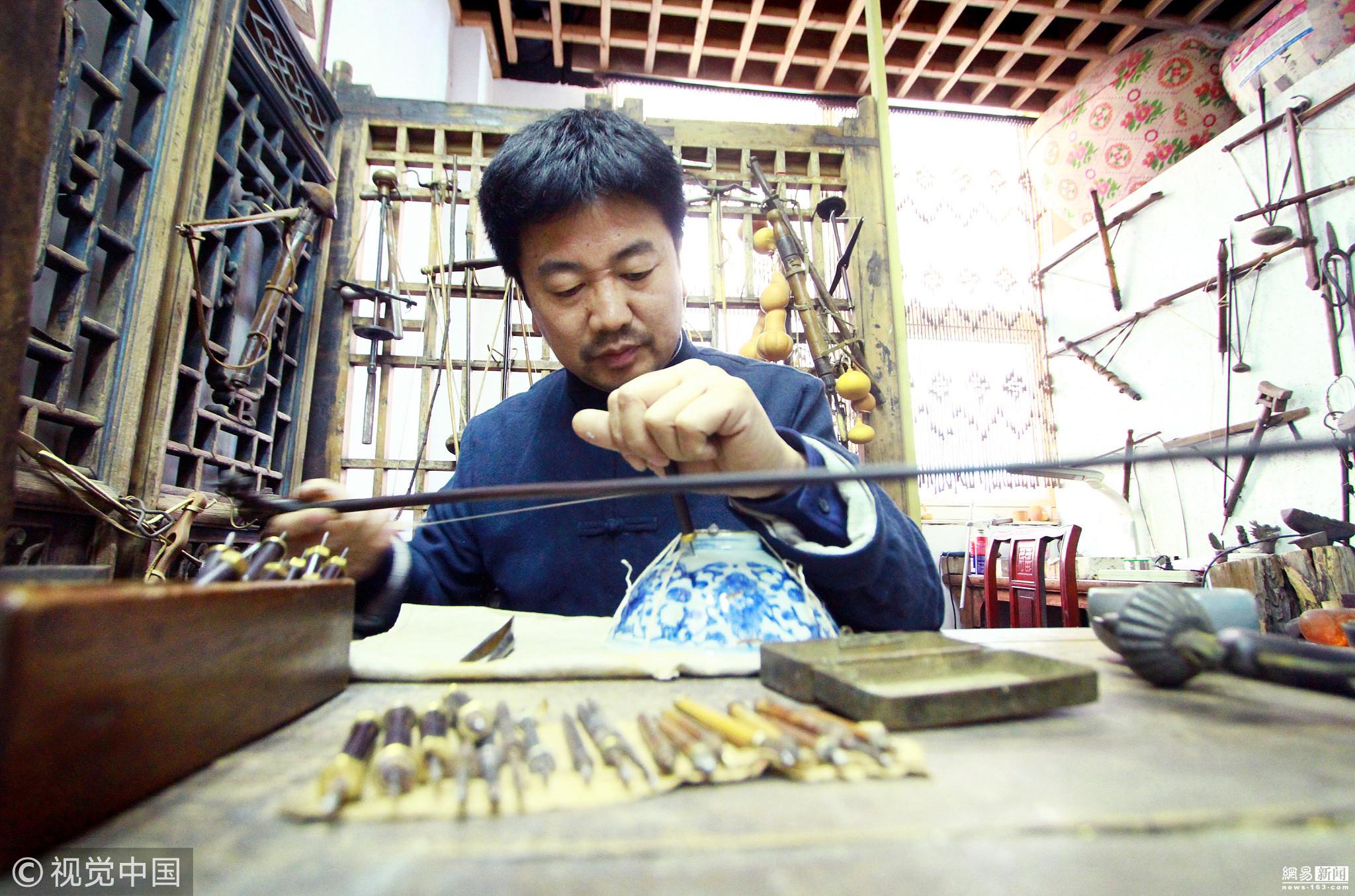 百万富翁破产后修东西为生 修一个碗上千元 - 周公乐 - xinhua8848 的博客