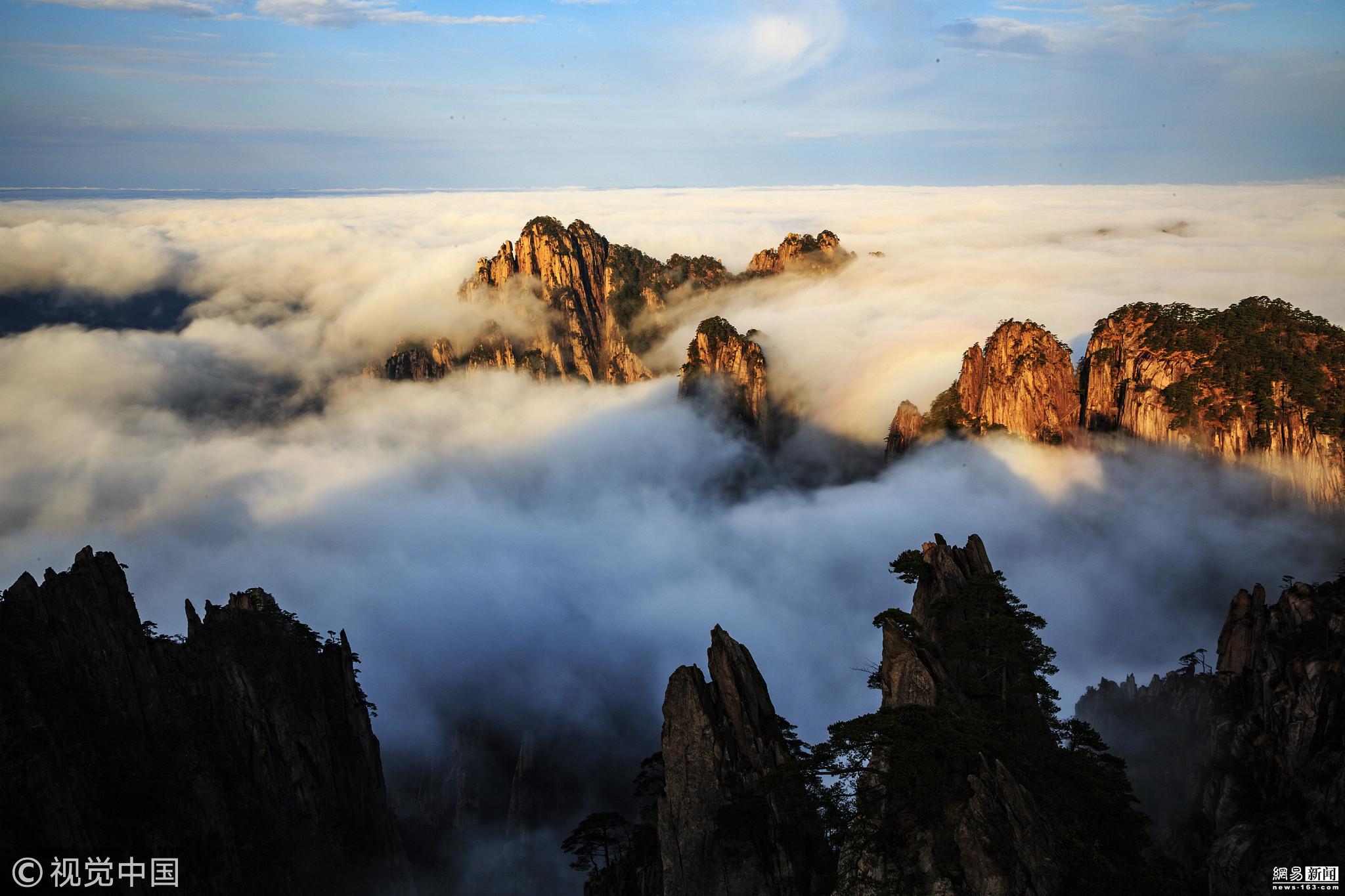 安徽黄山初冬五绝云海 如临仙境 - 周公乐 - xinhua8848 的博客