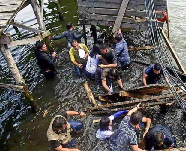 菲律宾官员视察时桥突然塌了 所有人坠海! - 周公乐 - xinhua8848 的博客