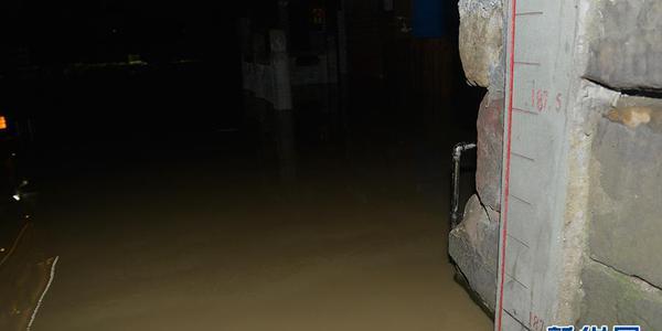 嘉陵江长江洪峰相继过境重庆 洪水淹一层楼