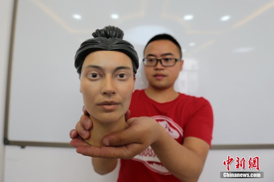 陕西一高校借3D打印技术还原古人真容! - 周公乐 - xinhua8848 的博客