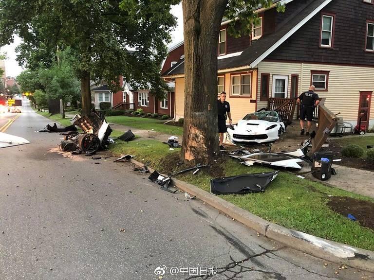 中国留美学生酒驾撞树当场身亡 年仅21岁