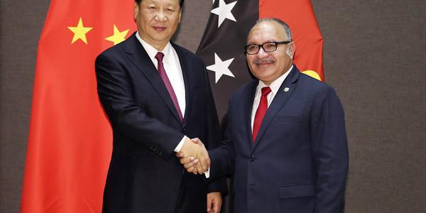 习近平同巴布亚新几内亚总理奥尼尔会谈