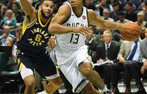 NBA季前赛:雄鹿86-104步行者