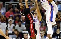 NBA季前赛:热火95-119费城76人