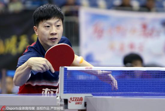 乒超马龙拿两分难救天津 樊振东林高远率队横扫