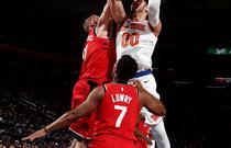 NBA常规赛:猛龙100-108尼克斯