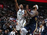 NBA常规赛:爵士114-108鹈鹕