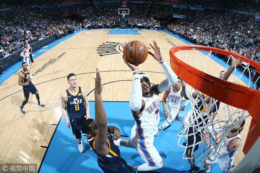 三巨頭合砍60分, 雷霆主場痛宰爵士28分,收穫兩連勝!(影)-黑特籃球-NBA新聞影音圖片分享社區