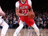 NBA常规赛:鹈鹕123-118尼克斯