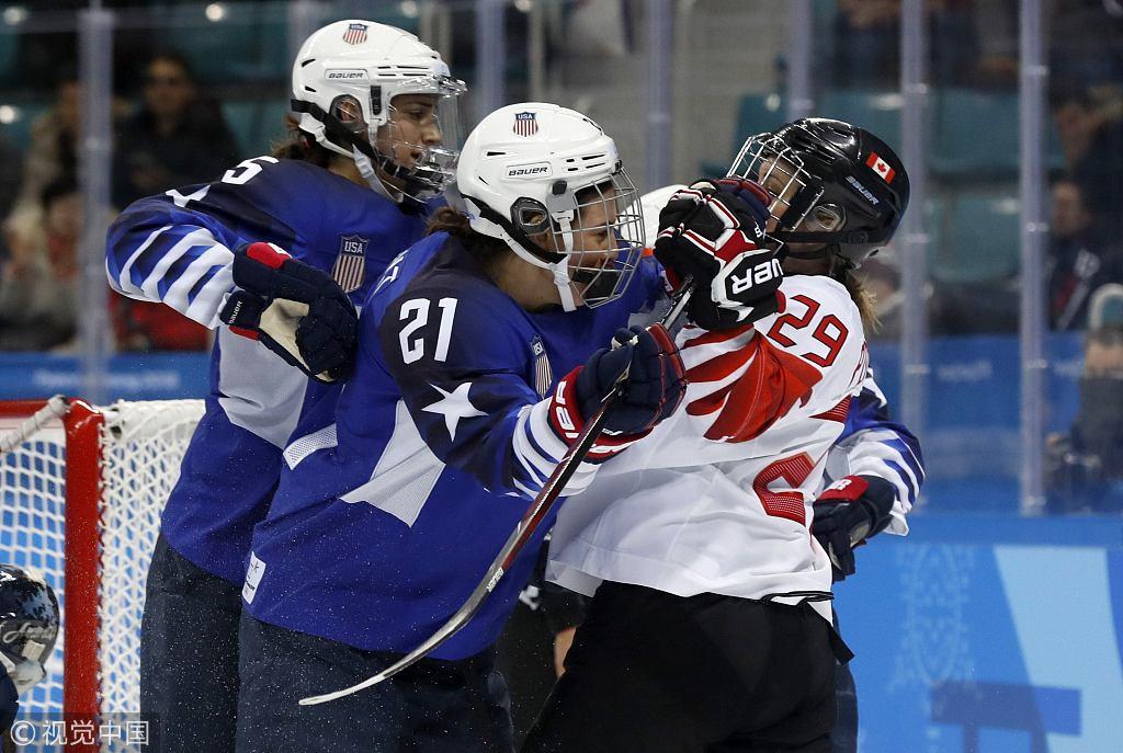 冬奥会女子冰球决赛美国VS加拿大