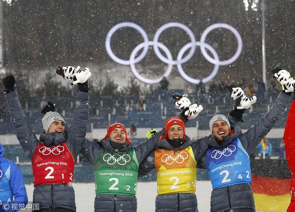 北欧两项团体德国摘金 摆花样POSS庆祝胜利