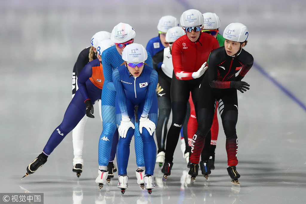 速滑集体出发李丹第5 日本选手夺金绕场欢呼