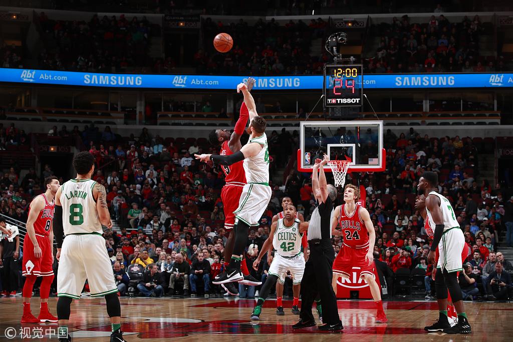 NBA常规赛:凯尔特人105-89公牛