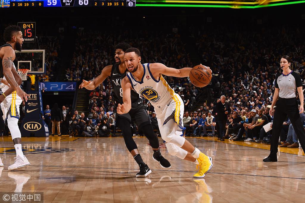 NBA常规赛:篮网101-114勇士