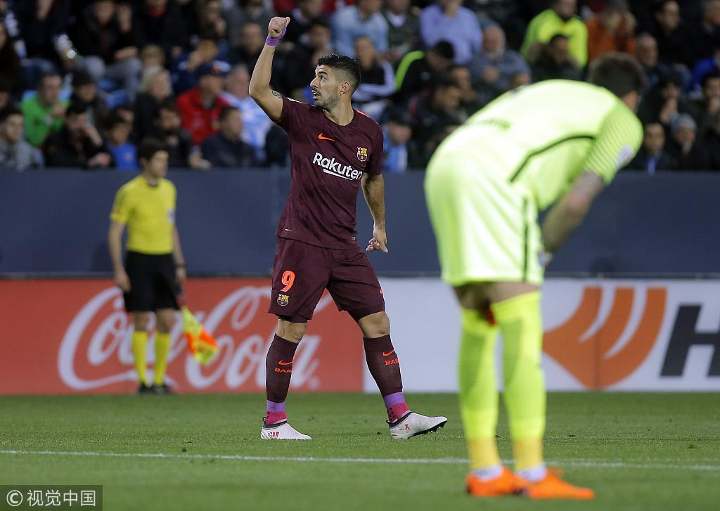 西甲第28轮:马拉加0-2巴塞罗那