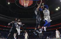 NBA常规赛:76人121-95篮网