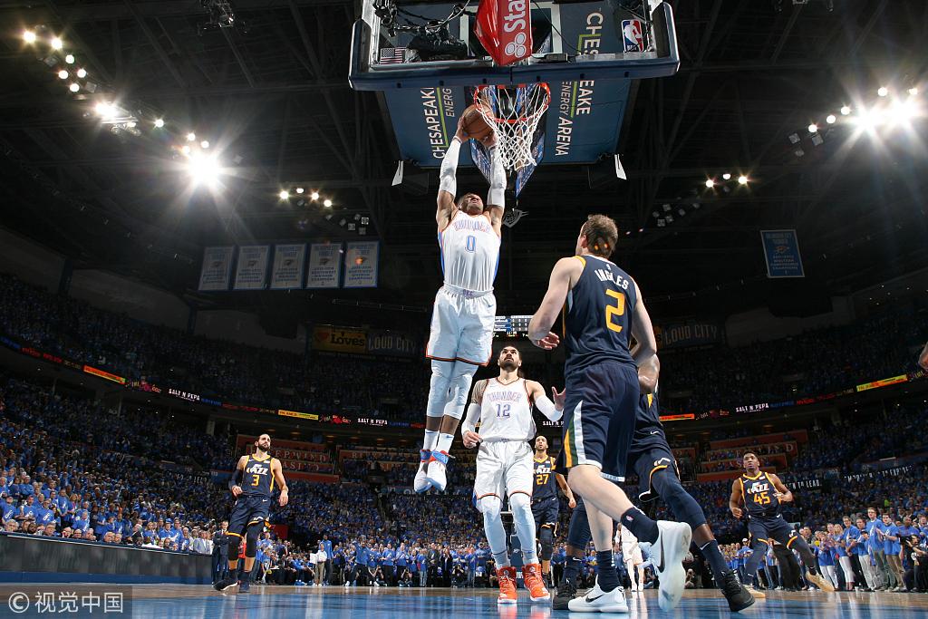 PG爆砍36+7,威少29+13+8,米切爾27+10,雷霆1-0爵士!(影)-Haters-黑特籃球NBA新聞影音圖片分享社區