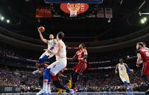 NBA季后赛:76人104-91热火