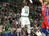 NBA季后赛次轮:76人101-117凯尔特人