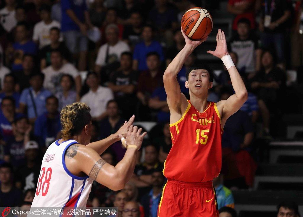 亞運會:中國險勝菲律賓取開門紅  周琦25分12板7火鍋  Clarkson砍28分(影)
