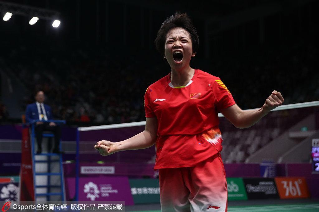 亚运第9日:中国进账8金 羽球单项2冠王宇改写历史