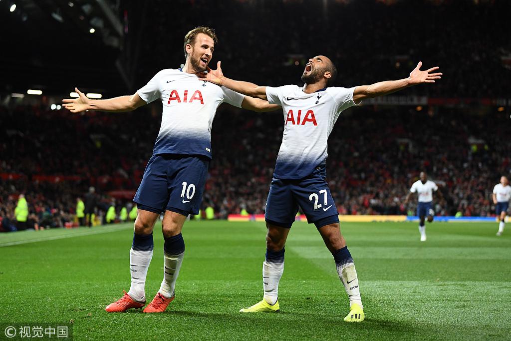 英超-凯恩破僵局卢卡斯2球 曼联主场0-3热刺2连败