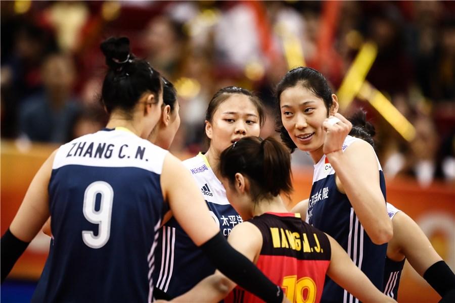 女排世锦赛中国3-1荷兰 朱婷再现霸气小眼神
