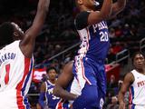 NBA常规赛:76人132-133活塞
