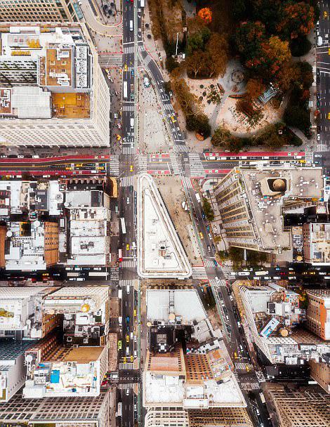 换个角度看世界!鸟瞰纽约著名地标建筑