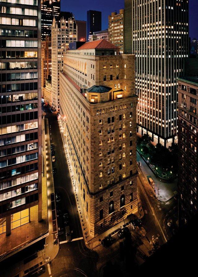 纽约曼哈商住楼平面图