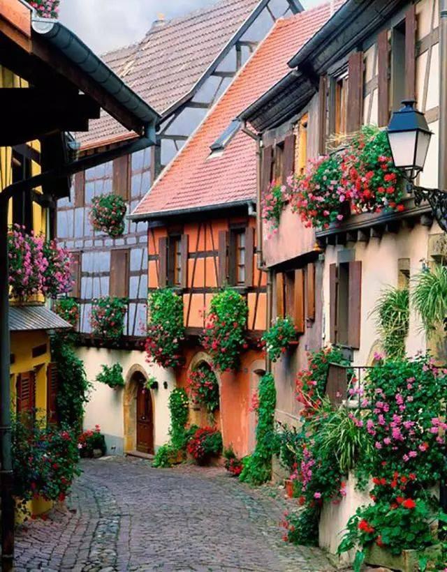 世界上最美的鲜花小镇 这辈子一定要去一次