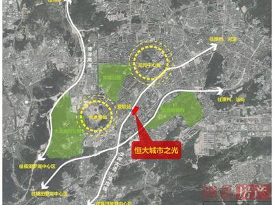 深圳恒大城市之光交通图图片