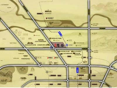 北京领秀慧谷交通图图片