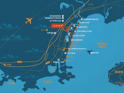 海南绿城·海棠潮鸣交通图图片