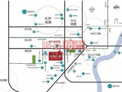 上海同济融创玫瑰公馆交通图图片