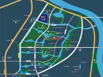 上海融信世纪江湾交通图图片