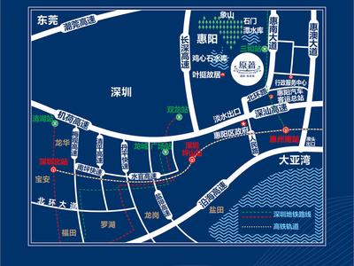 深圳惠阳振业城·原著交通图图片