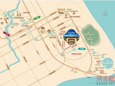 上海东方颐城交通图图片