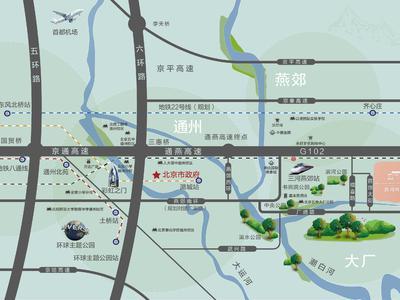 北京路劲阳光城交通图图片