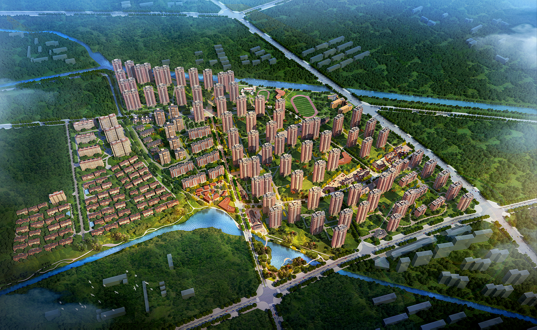 北京五矿万科哈洛小镇效果图图片