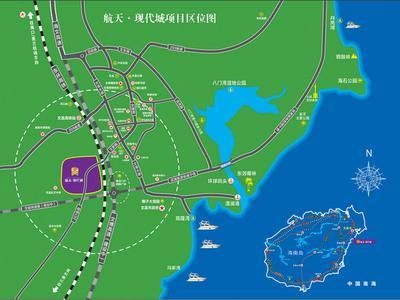 海南航天·现代城交通图图片