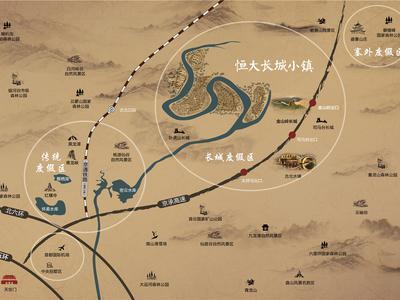 北京恒大长城小镇交通图图片